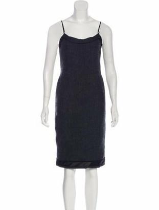 Prada Wool Sheath Dress Grey