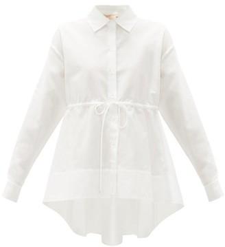 Brock Collection Waist-tie Cotton-blend Poplin Shirt - White