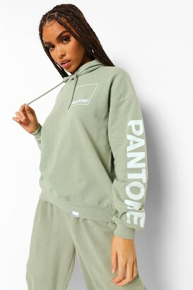 boohoo Pantone Acid Washed Oversized Hoodie