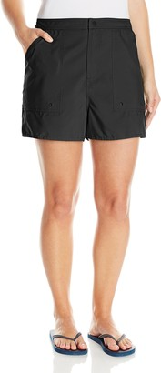 Maxine Of Hollywood Women's Plus-Size Solid Woven Board Shorts
