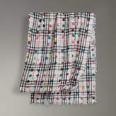 Burberry Dot Print and Vintage Check Cotton Square - Large
