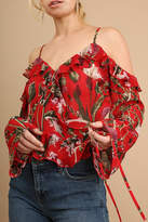 Umgee USA Open Shoulder Printed-Top