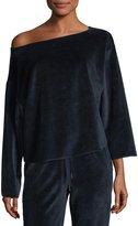 KENDALL + KYLIE Off-the-Shoulder Velvet Pullover Sweater