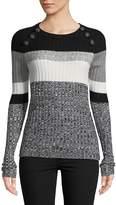 Ella Moss Women's Stripe Roundneck Pullover