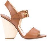 Paul Andrew chunky heel sandals - women - Leather - 36.5