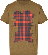 Marc by Marc Jacobs Cotton Plaid T-Shirt in Army Melange