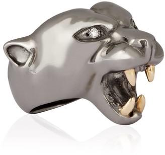 Ring Black Panther Rhodium