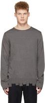 Comme des Garcons Grey Asymmetric Hem Sweater