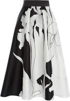 Coast Iris Print Full Skirt