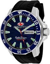 Seapro Scuba Dragon Diver Mens Blue Dial Black Silicone Strap Watch
