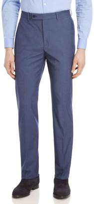Calvin Klein Blue Sharkskin Stretch Slim-Fit Suit Pants