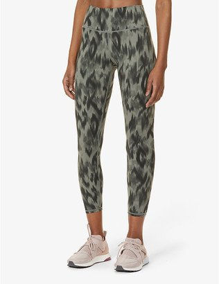 Varley Luna graphic-print high-rise stretch-knit leggings