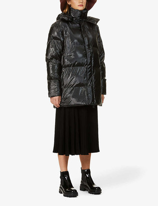 Rains Hooded shell puffer coat