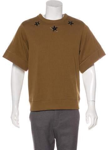Givenchy Studded Short Sleeve Sweatshirt