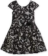 Zoe Lovely Lace Contrast Overlay Dress, Size 7-16