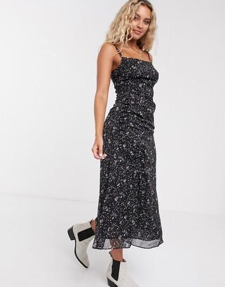 The East Order casi floral midi slip dress with slit