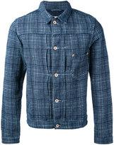 Bellerose check shirt jacket - men - Cotton/Linen/Flax - S