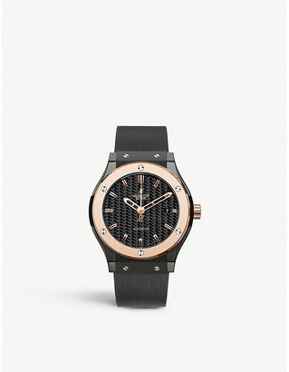 Hublot 542.CO.1780.RX Classic Fusion ceramic and rubber watch