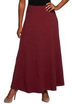 Denim & Co. Regular Knit Pull-On Skirt with Seam Detail