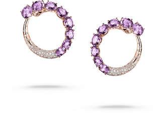de Grisogono Doppia 18k Rose Gold Earrings w/ Amethyst & Diamonds