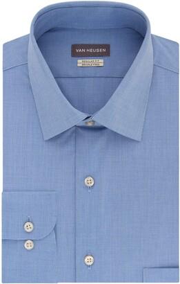 Van Heusen Van Huesen Men's Dress Shirts Regular Fit Check