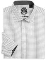 English Laundry Checkered Cotton Dress Shirt