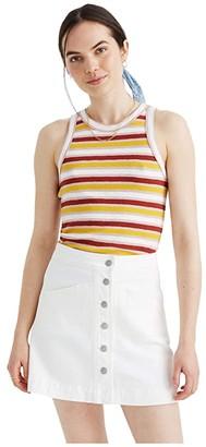 Madewell White Denim Metropolis Skirt (Tile White) Women's Skirt