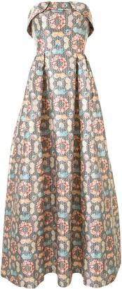 Sachin + Babi Lianna geometric print gown
