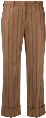 Lardini Striped Straight-Leg Trousers