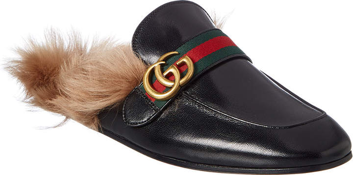 Gucci Double G Princetown Leather Slipper