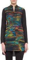 Akris Punto Women's Print Wool Tunic Blouse