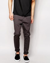 Dr Denim Chinos Heywood Slim Tapered Fit Dark Grey