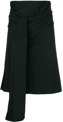 Romeo Gigli Pre Owned knot detail wrapped skirt