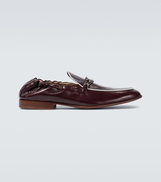 Lanvin Leather loafers with metal detail