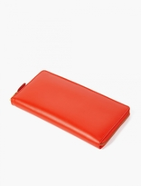 Comme Des Garcons Wallet Orange Classic Large Leather Wallet
