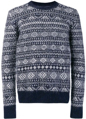 Woolrich intarsia-knit jumper