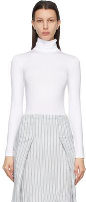 Wolford White Shimmer Colorado String Bodysuit