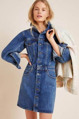 A Gold E Agolde AGOLDE Denim Mini Dress