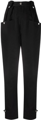 Etoile Isabel Marant High-Waisted Tapered Cotton Trousers