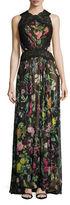 Tadashi Shoji Sleeveless Floral Printed Gown