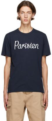 MAISON KITSUNÉ Navy Parisien Classic T-Shirt