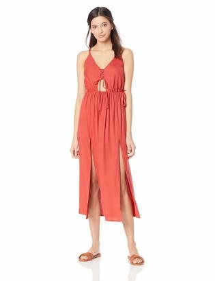 O'Neill Women's Cory Midi Open Back Cover Up Dress