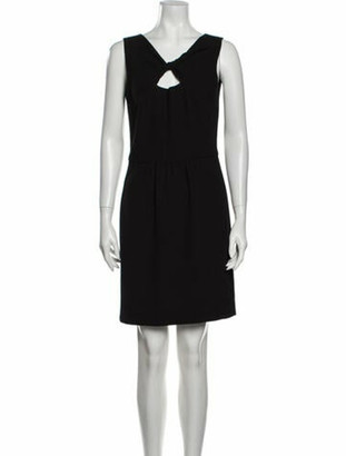 Oscar de la Renta 2010 Mini Dress Wool