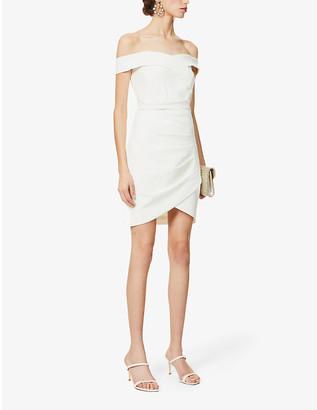 Lavish Alice Bardot asymmetric-panels crepe mini dress