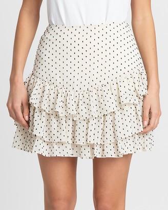 The Fated Amethyst Mini Ruffle Skirt