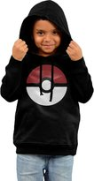 ASUYWQN Little Boys Girls Subtle Pokeball Poke-mon Logo Hooded Sweatshirt