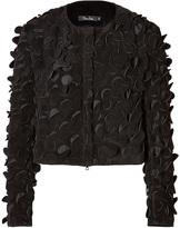 Marios Schwab Suede Jacket with Cutout Detailing