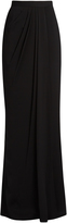 Alexander McQueen High-rise draped maxi skirt