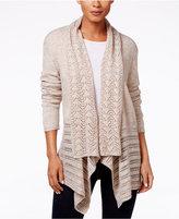 Karen Scott Petite Pointelle-Knit Cardigan, Only at Macy's