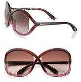Tom Ford Sandra 62MM Crossover Square Sunglasses